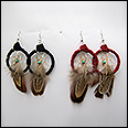 Leather/Feather Dream Catcher Earrings