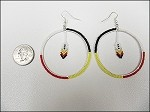 Beaded Medicine Wheel Earrings - 3680