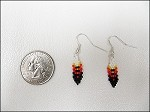 Beaded Feather Earrings (small) - 3630