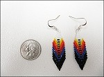 Beaded Feather Earrings (Large) - 3650
